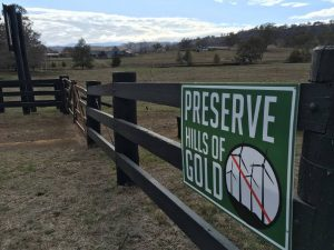 Preserve Hills of Gold Signage